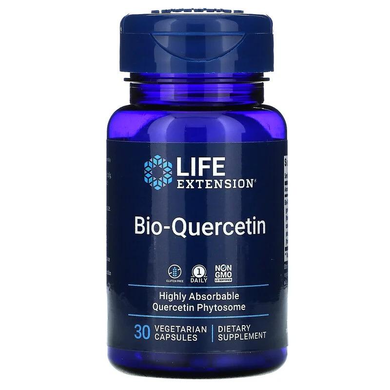 Life Extension, Био-кверцитин, 30 вегетарианских капсул