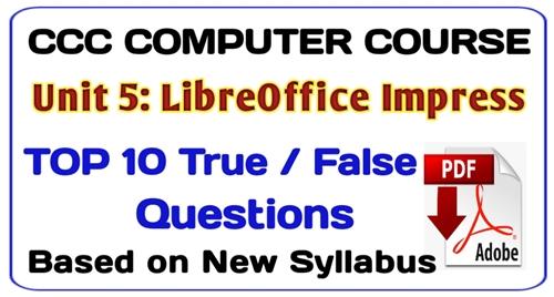 libreoffice impress true false, ccc exam 2020