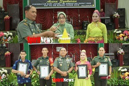 Kodam XIV/Hsn,Gelar Syukuran Peringatan Hari Juang TNI AD Dan HUT Ke 58 Tahun 2019