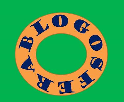 A imagem no formato de círculo diz: blogosfera..