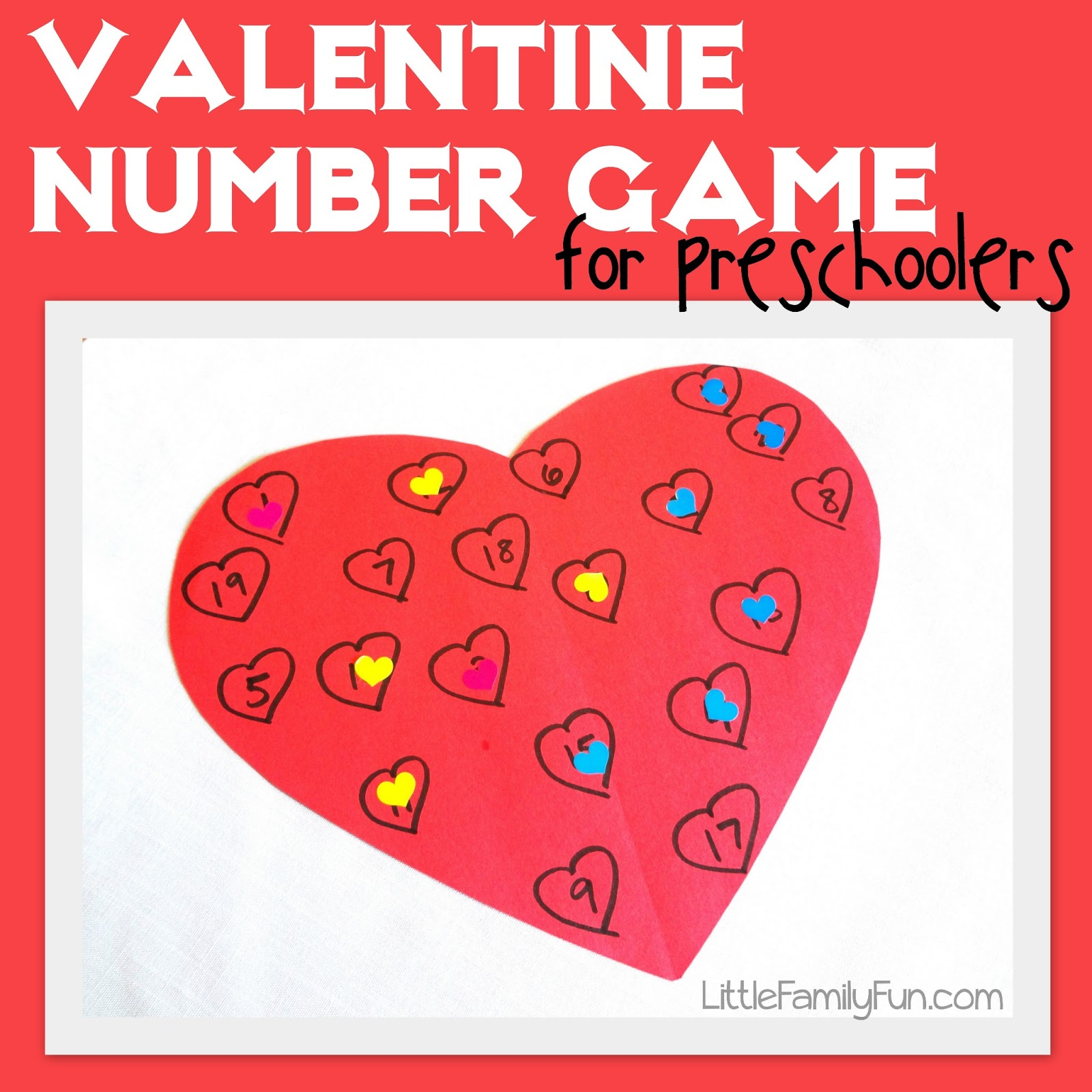 Little Family Fun Valentine Number Game For Preschoolers