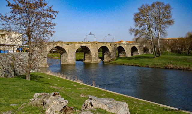 Pont Vieux sobre o Rio Aude, Carcassonne, França