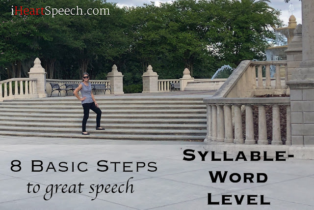 Speech therapist teaches how to work on speech sounds by standing on steps!