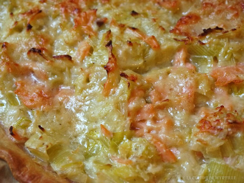 La cuisine de myrtille - Tarte aux poireaux sans creme ...