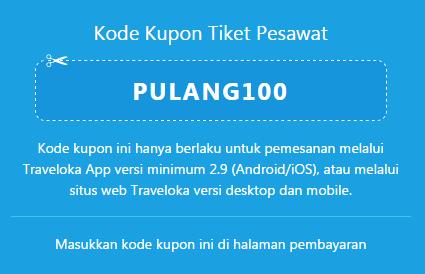 Traveloka Kode Kupon Tiket Pesawat