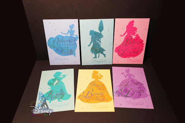 Castle-of-Magical-Dreams, merchandise, Hong Kong Disneyland, princess, post cards