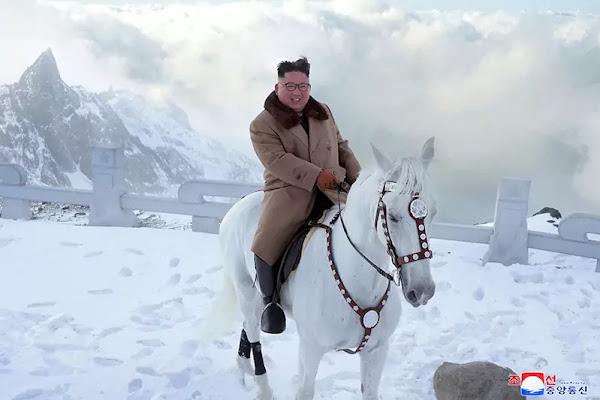 Kim Jong Un ascends Mt Paektu on horseback, October 2019