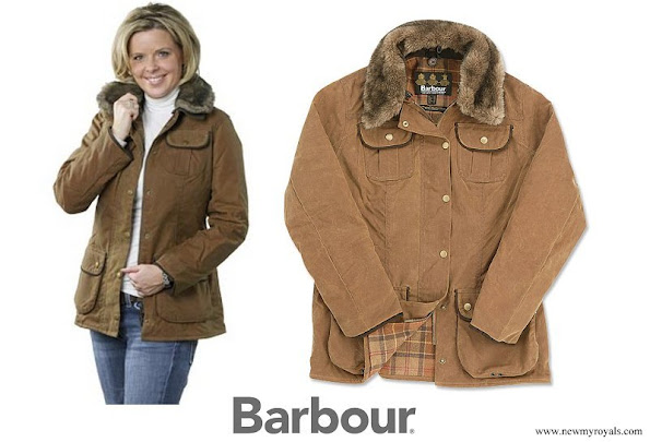 Princess Marie wore Barbour Fur Trim Utility Jacket