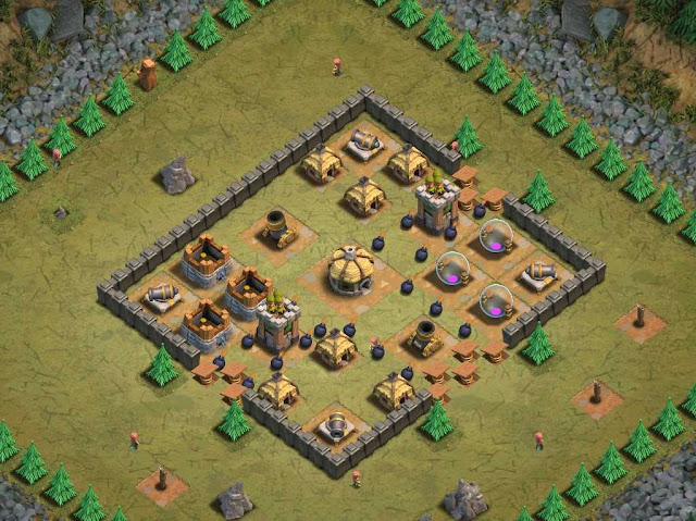 Goblin Base Clash of Clans Walls of Steel