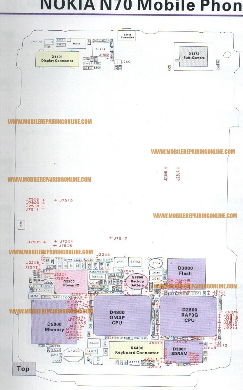 Schematic Diagram For Nokia Mobile Phones Mobilerepairingonline X Circuit Free Download Layout Service Manual Now N70 Symbian Smartphone