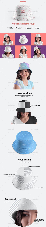GraphicRiver 7 Bucket Hat Mockups 32250942.