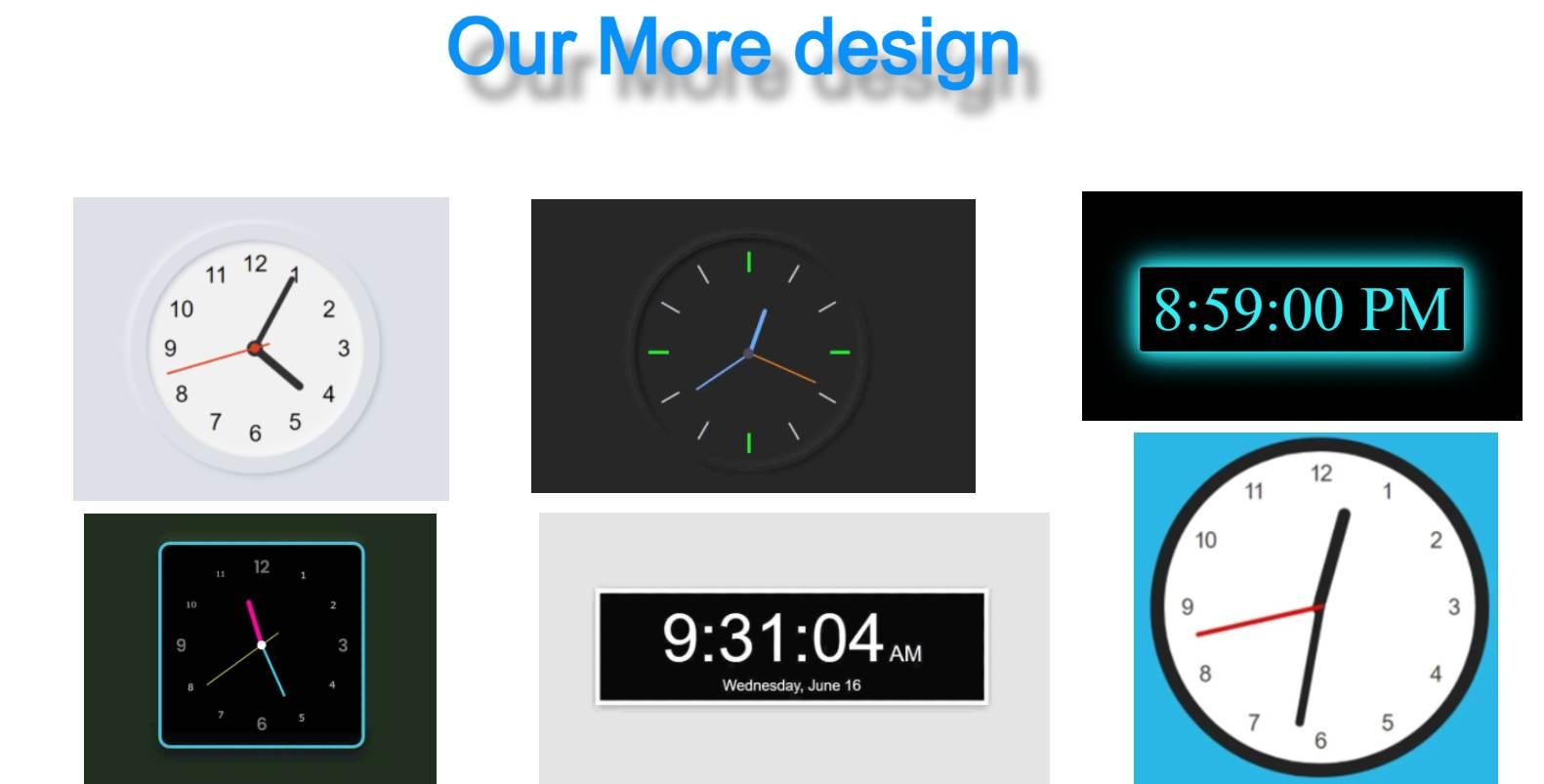 our more design