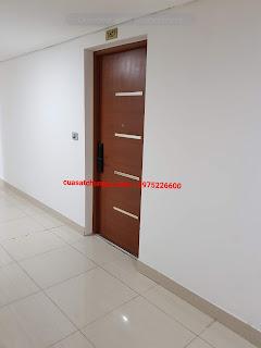 Làm cửa sắt bảo vệ cửa gỗ chung cư pac2