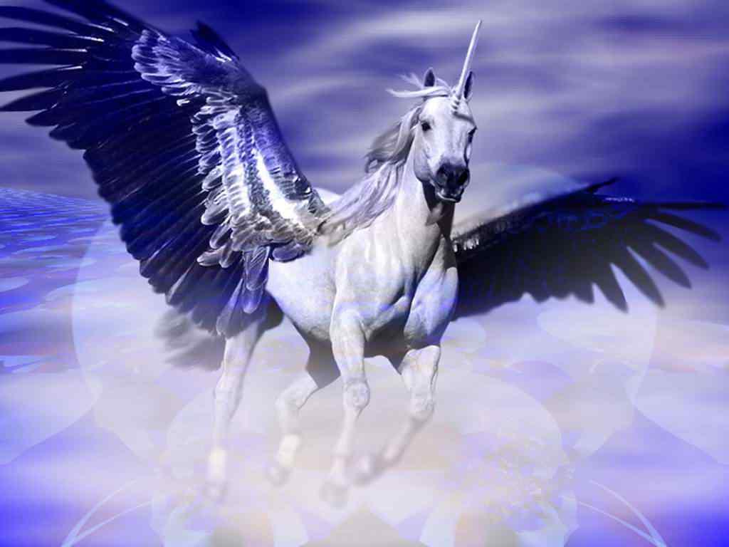 gambar unicorn bersayap