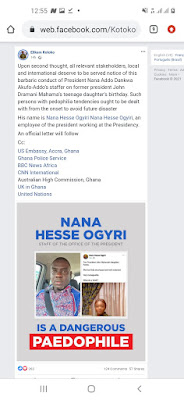 BACKLASH at a paedophile Nana ogyri