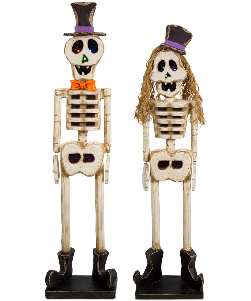 2-Piece Boy and Girl Skeleton MGO Set