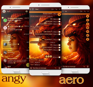 Dragon Girl Theme For YOWhatsApp & Aero WhatsApp By Ave fénix