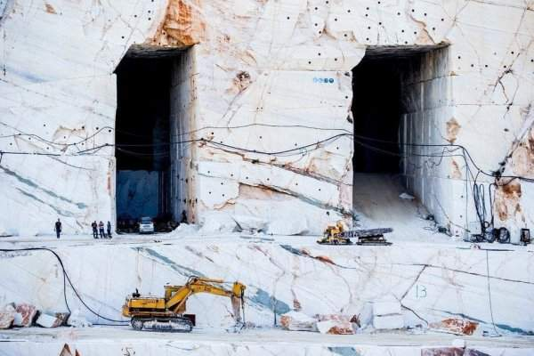 Marble quarry in Greece