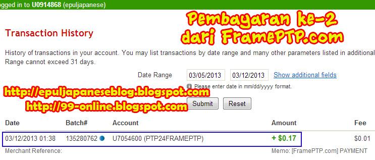 Bukti Pembayaran ke-2 dari FramePTP.com