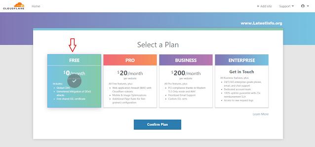 Confirm Plan Button
