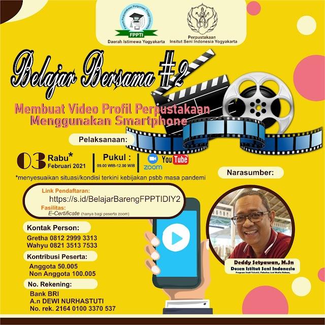 """Workshop """"Membuat  Video Profil Perpustakaan Menggunakan Smartphone"""""""
