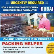 Packing helper/General Cleaner Jobs Recruitment