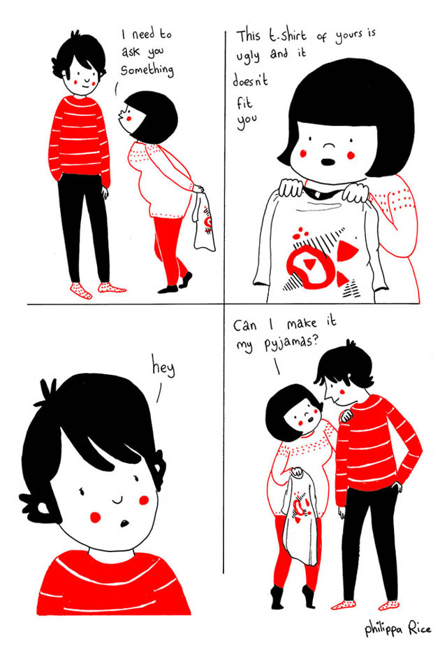 Heartwarming Illustrations Show That True Love Is In The Little Everyday Things - Sometimes, you have to ask hard questions