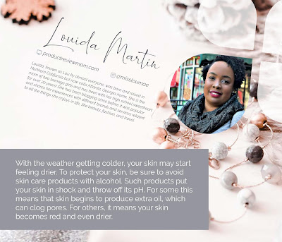 Louida Martin in Lexli's Holiday Beauty Guide eBook