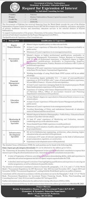 elementary-secondary-education-department-kpk-jobs-latest