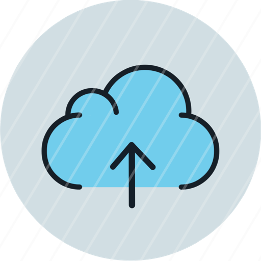 cloud data download storage icon arrow up