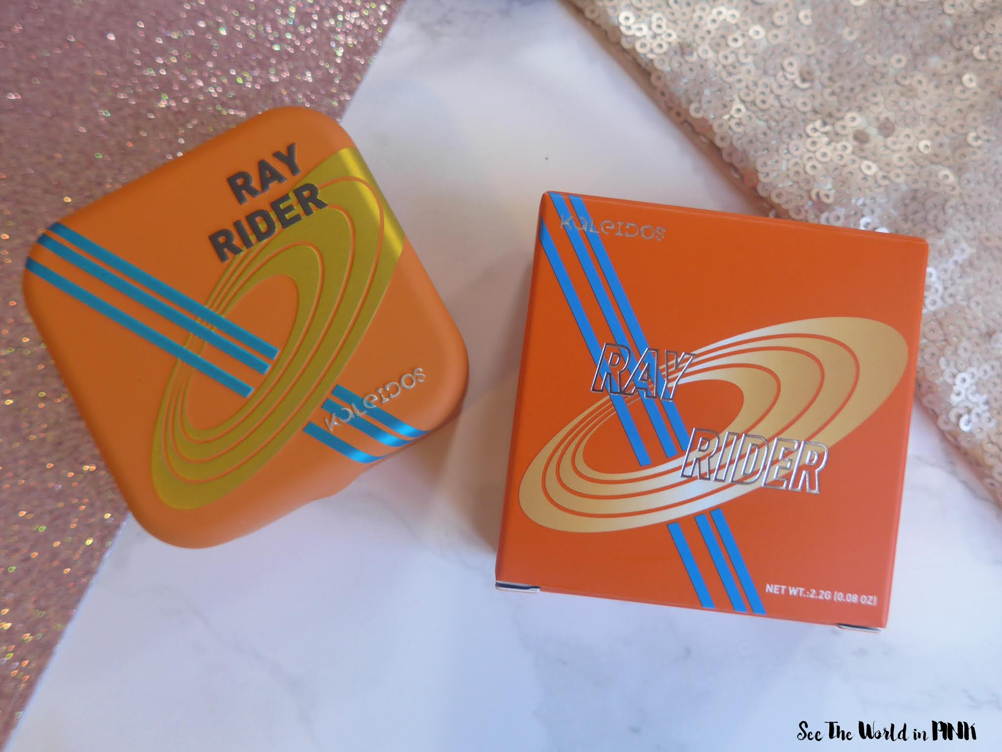 Kaleidos Makeup - Sashimi City Futurism Palette & Ray Rider Space Age Highlighter