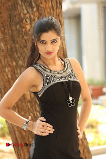 Actress Poojitha Pallavi Naidu Stills in Black Short Dress at Inkenti Nuvve Cheppu Movie Platinum Disc Function  0076.JPG