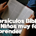 25 Versículos Bíblicos para Niños muy fáciles de Aprender