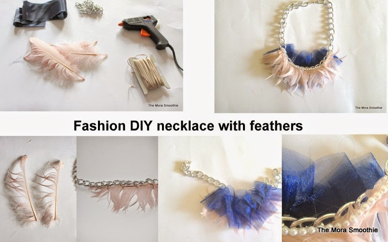 DIY, necklace, diy fashion, fashion, fashionblog, fashionblogger, themorasmoothie, jewelry, diy jewelry, feathers, diyproject, diycraft, craft, handmade, handmade necklace