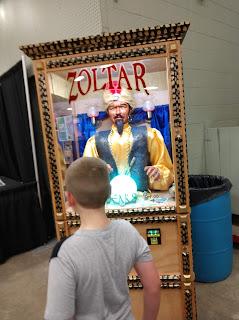 Zoltar fortune telling machine at the North Iowa Fair in Mason City