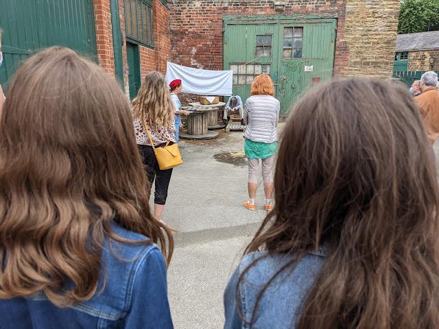 Girls watching show
