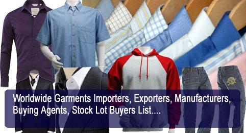 Free Garments Importers List | Apparel Buyers & Exporters Directories