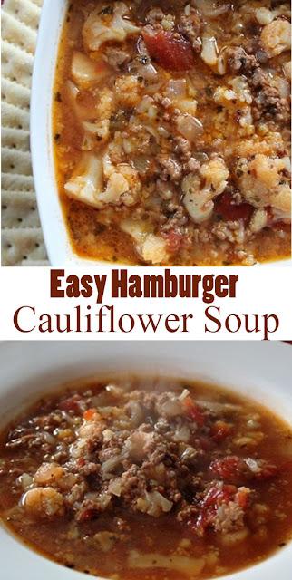 #EasyRecipe Hamburger Cauliflower #Soup