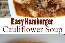 Easy Hamburger Cauliflower Soup