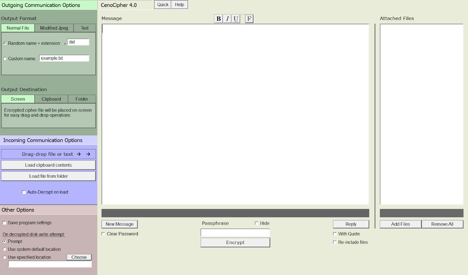 CenoCipher 4 Screenshot
