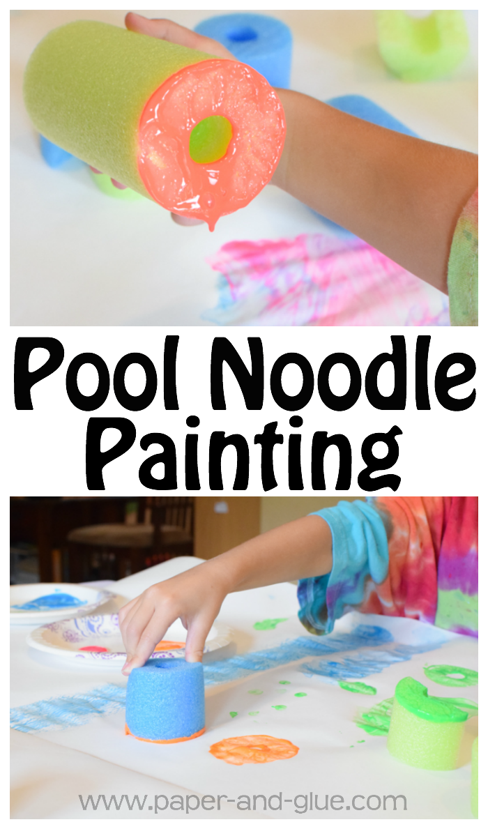 Pool Noodle Painting Process Art  What Can We Do With Paper And Glue
