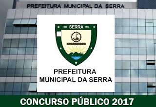 concurso público Prefeitura da Serra ES 2017, para vagas SEMAS.