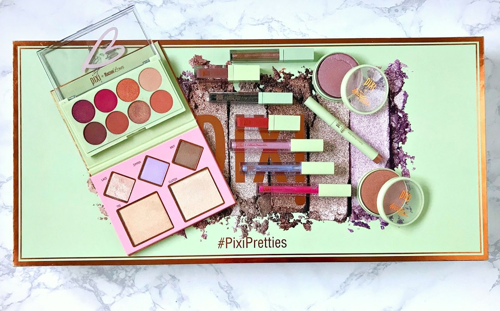 Pixi, Pixi x Chloe Morello, Pixi Pretties, Pixi Heart Defensor Eye <3 Palette, Pixi From Head to Toe Endless Shade Stick, Pixi From Head to Toe Glow-y Powder, Pixi RachhLoves The Layers Highlighting Palette, Pixi Maryam NYC Lit Kit