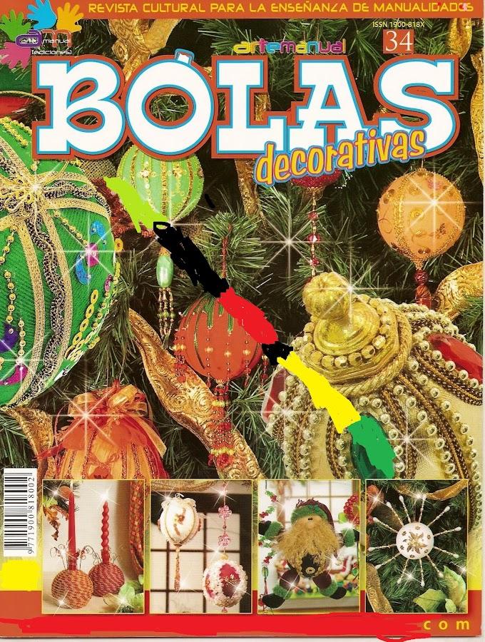 Bolas Decorativas -Revista Artesanato Natal