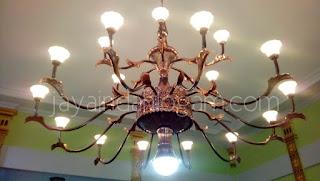 Kerajinan tembaga dan kuningan -  Lampu Robyong Tembaga