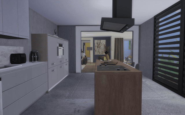 cuisine moderne Sims 4