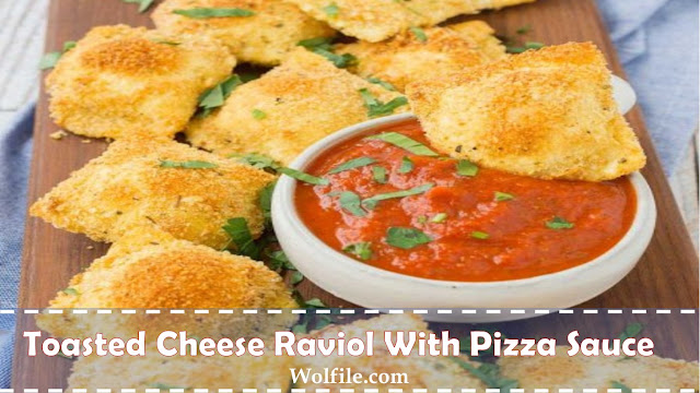Toasted Cheese Raviol With Pizza Sauce
