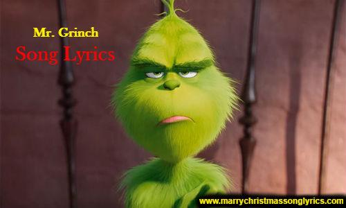 Mr. Grinch Song Lyrics