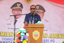Abdul Rahim Odeyani Resmikan 2 Tower 4G di Kecamatan Patani dan Patani Barat