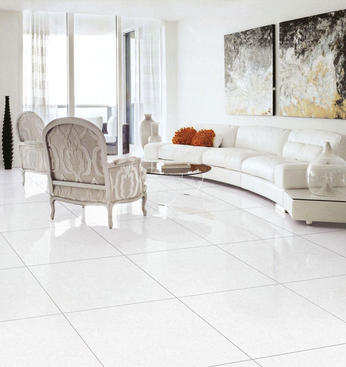 white porcelain tiles 600x600